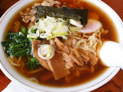 喜一郎食堂 中華そば 三瀬 チャーシューが又も豚バラ炒め。