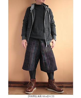 モン族刺繍ショートタイパンツ