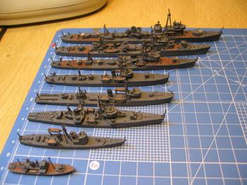 大湊の艦艇