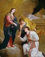 聖母にひざまずくSt. Valentinus
