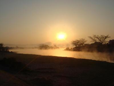 江津湖の夜明け!