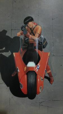 金田と金田のバイク