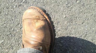 ブーツが大変だ!