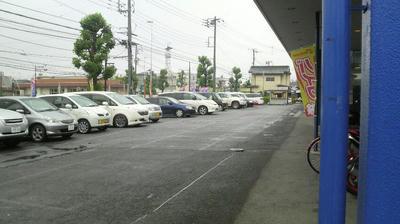 上尾ライコのバイク駐車場