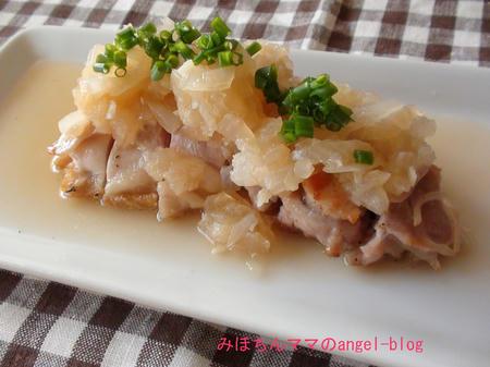 鶏のニンニク焼き・玉葱ソース