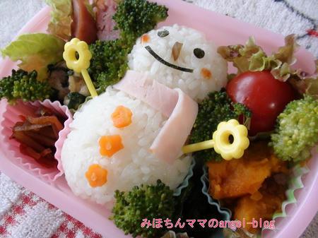 雪だるまのキャラ弁
