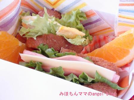 幼稚園サンドイッチ弁当