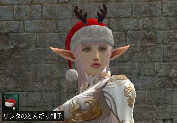 サンタのとんがり帽子