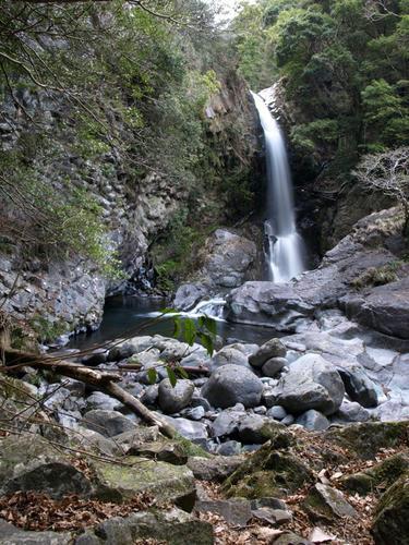 柱状節理と釜滝