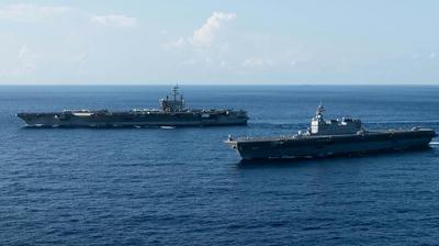 南シナ海,東風21,トンプー,DF21,中距離核弾道弾,カナダ海軍,海上自衛,訓練,護衛艦,乗り物,