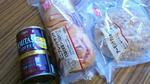 アーモンドクッキーパンとミニブレッドサンドとデミタス