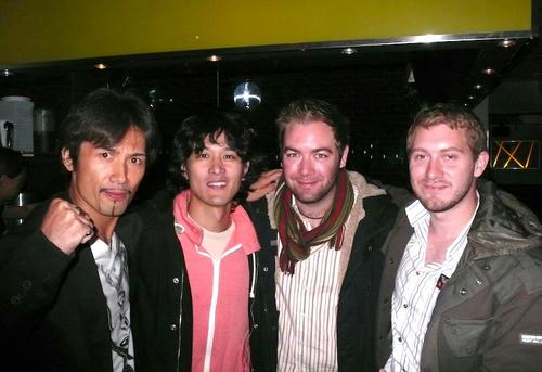 左から「狂い面」月足監督、僕、「IMAGINING LOVE」NICK GILLESPIE監督、同PILLIP CONNORさん
