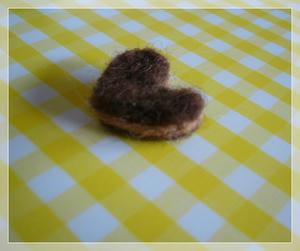 原毛で作ったクッキー?