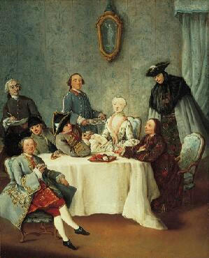 Artist Sketching an Elegant Company (Il Cafe), c. 1760 Pietro Longhi  The Norton Simon Foundation
