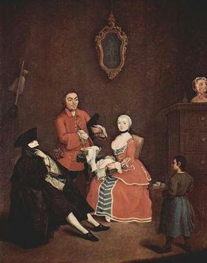 Der Friseur von Pietro Longhi 1760