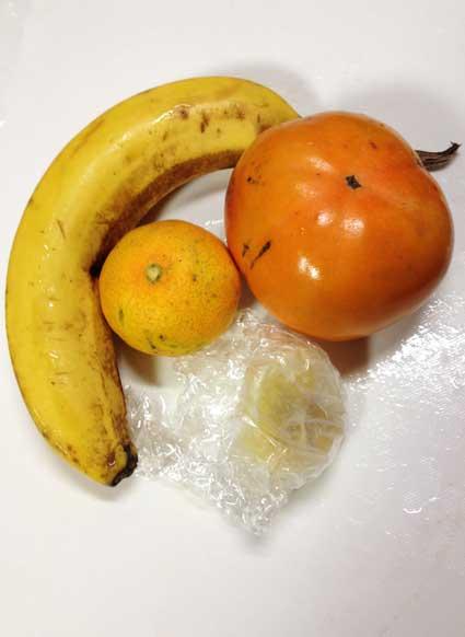 柿のスムージーの材料