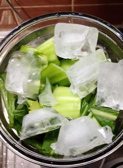 ミキサーに氷も加えます。