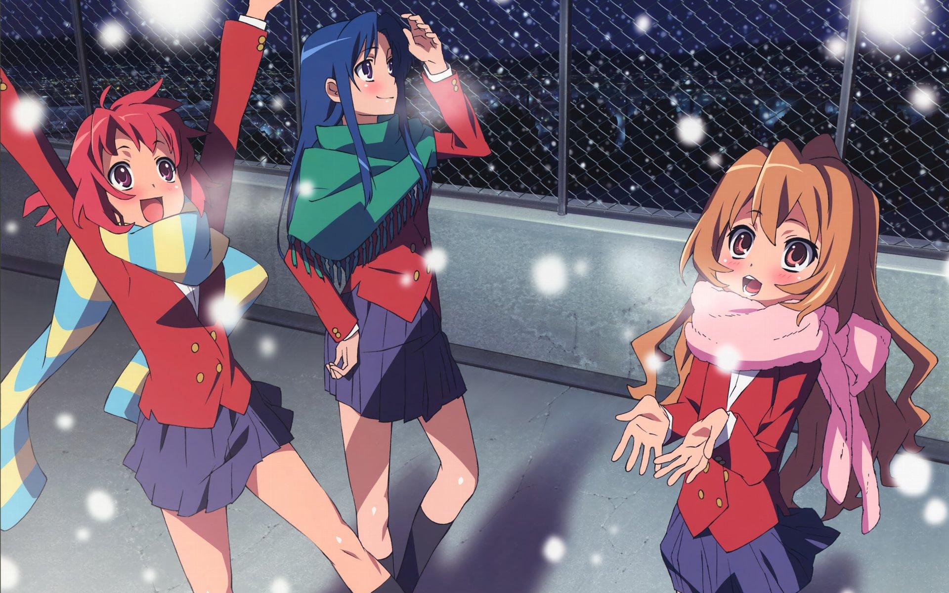 雪ではしゃぐとらドラ!