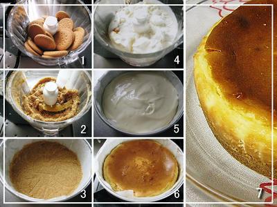 ベイクドチーズケーキ作成工程