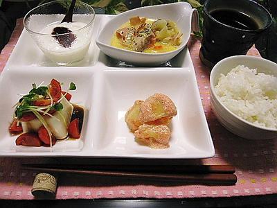 キャベツと鶏肉のクリーム煮 ほか晩ご飯