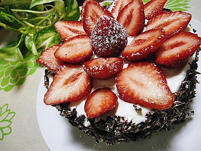 バレンタインデー用デコレーションケーキ