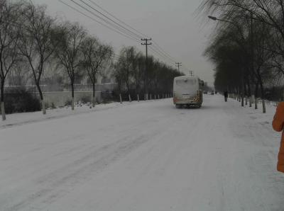 雪の西安1