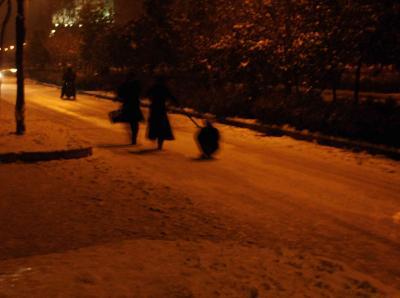 雪の西安3