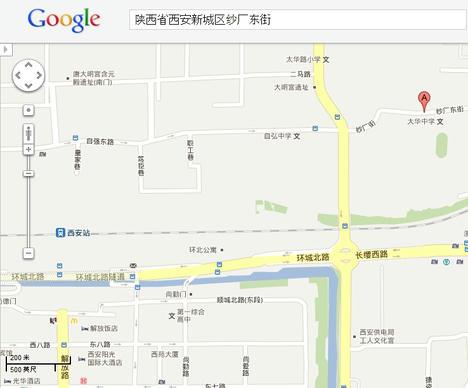 事件現場付近地図