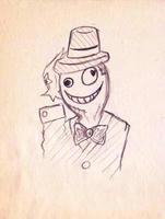 授業中に描いたの。
