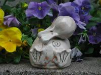 家鴨形花器