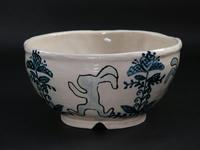 巴青兎象嵌茶碗