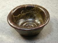 猫柄象嵌愛猫水呑鉢