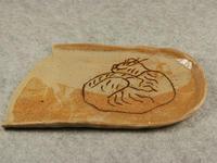 猫柄象嵌秋刀魚皿