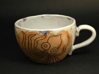 蛸柄象嵌スープカップ