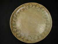 千鳥模様象嵌大皿