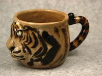 虎顔レリーフマグカップ