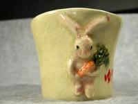 家鴨窯151号 人参お届けウサギ付きマグカップ