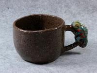 カメレオン付きマグカップ