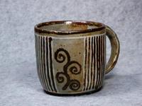 322号 象嵌縞模様マグカップ