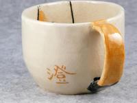 家鴨窯212号 三毛猫クリちゃん象嵌マグカップ ver2