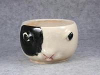 家鴨窯214号 ぶちうさぎマグカップ
