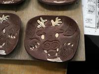 龍の小平皿と丸皿