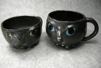 家鴨窯226号 猫「顔」マグカップ