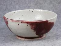 326号 猫象嵌辰砂釉鉢