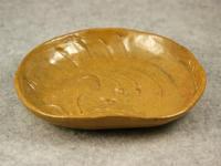 331-332号 眠る猫レリーフ平皿
