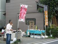 7月31日谷中ペケ市 あひるのさんぽにがーちゃん似顔絵