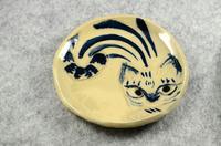 家鴨窯282号 丸い猫皿