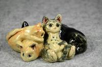 家鴨窯281号 5匹の群れ猫(ちゃりてぃ猫だらけ展)