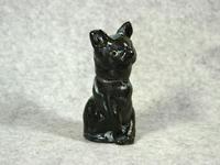 家鴨窯121号 クロ猫(なのよ)印鑑入れ