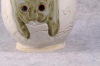 344号 クロとちはるを描いた湯呑茶碗